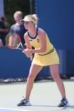 Tennis professionista Elina Svitolina dall'Ucraina durante la prima partita del giro all'US Open 2014 fotografia stock