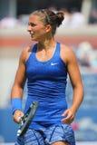 Tennis professionista Sara Errani durante la partita all'US Open 2014 Fotografia Stock Libera da Diritti