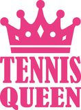 Tennis Queen. Vector sports icon Stock Image