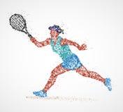 Tennis, résumé, joueur illustration libre de droits