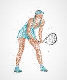 Tennis, résumé, joueur Photo libre de droits