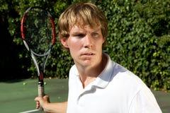 Tennis-Rückholschuß Stockfotografie