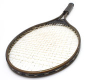 Tennis racket. Of brown color on a white background Royalty Free Stock Photography