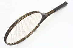 Tennis racket. Of brown color on a white background Royalty Free Stock Photo