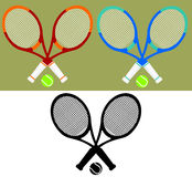 Tennis racket. Illustration of tennis racket and tennis ball Royalty Free Stock Photo