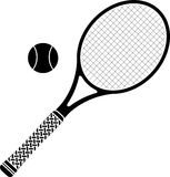 Tennis racket. Stencil. vector illustration stock illustration