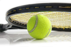 Tennis racket. Tennis royalty free stock photography
