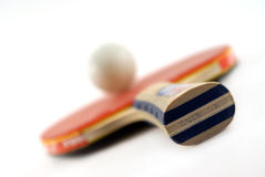 Tennis racket. A red table tennis racket Royalty Free Stock Images