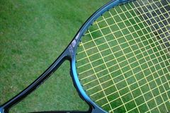 Tennis racket. In close Stock Images