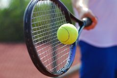 Free Tennis Racket And Ball Stock Photography - 3231632