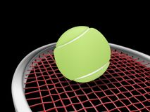 Tennis racket and ball. Sports concept,3d&computer generated Stock Photography