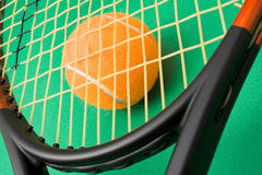Tennis racket and a ball Royalty Free Stock Photo