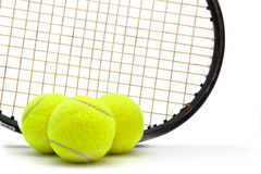 Tennis racket and ball Royalty Free Stock Images