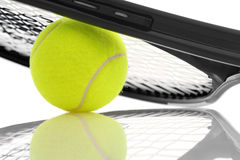 Tennis racket and ball. Stock Photography