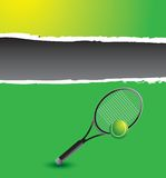 Tennis racket and ball graphic Royalty Free Stock Photo