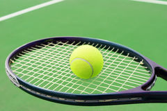 Tennis racket with ball Royalty Free Stock Image