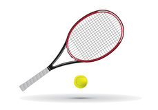 Tennis racket and ball  illustration. Tennis racket and ball illustration available in  format Stock Photo
