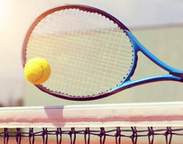 Tennis racket with ball. Royalty Free Stock Image