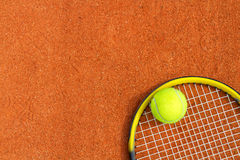 Tennis racket and ball. Stock Image