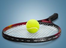Tennis Racket. Tennis Ball Sports Equipment Ball Equipment Sport Two Objects Stock Photography