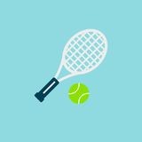 Tennis racket with ball vector icon. Color illustration tennis racket with ball vector icon royalty free illustration