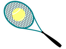 Tennis racket ball Royalty Free Stock Photography