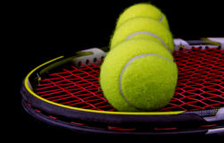 Tennis- racket and balls Royalty Free Stock Photo