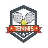 Tennis racket balls banner design Royalty Free Stock Image