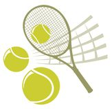 Tennis. Racket with balls isolated on a white background Royalty Free Stock Image