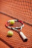 Tennis racket and balls postpone Stock Image