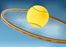 Tennis racket and balls Royalty Free Stock Image