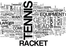 A Tennis Racket Can Make Or Break Your Gameword Cloud Stock Images
