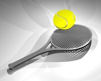 Tennis racket draw Royalty Free Stock Photography