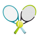 Tennis racket equipment icon. Vector illustration design royalty free illustration