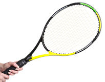 Tennis racket in a female hand Royalty Free Stock Image
