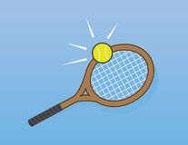 Tennis Racket Hit Stock Photos