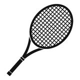 Tennis racket icon, simple style. Tennis racket icon. Simple illustration of tennis racket vector icon for web Stock Image