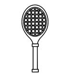 Tennis racket isolated icon Royalty Free Stock Images