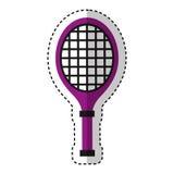 Tennis racket isolated icon Stock Photo