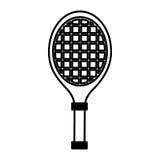 Tennis racket isolated icon Royalty Free Stock Photo