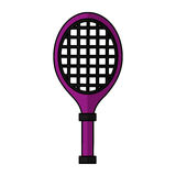 Tennis racket isolated icon Stock Photography