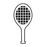 Tennis racket isolated icon. Vector illustration design Royalty Free Stock Photography