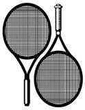 Tennis racket isolated on white Stock Photography