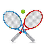 Tennis racket isolated on white. Royalty Free Stock Photo