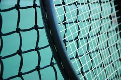 Tennis Racket and Net Royalty Free Stock Photo