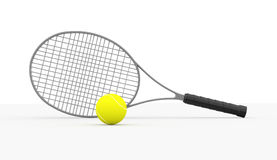 Tennis racket rendered isolated Stock Photography