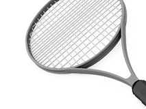 Tennis racket rendered on white Royalty Free Stock Photography