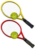 Tennis racket set Stock Photo