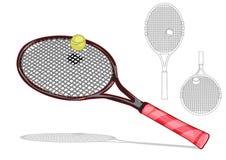 Tennis racket set Royalty Free Stock Image