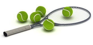 Tennis Racket. Single tennis racket (computer generated image Royalty Free Stock Image